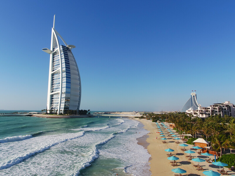 ブルジュアルアラブとビーチ